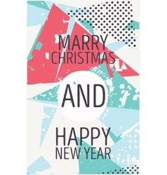 Happy new year and marry christmas card vector