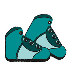 Hiking boot icon image vector
