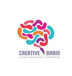 Human creative brain - logo template vector