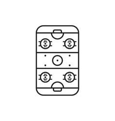 Ice Hockey Rink icon Game symbol Flat vector image