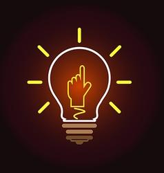 idea Hand 2 vector image