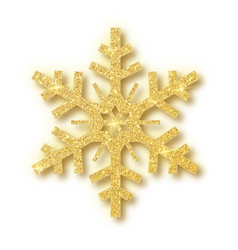 isolated over white background snowflake vector image