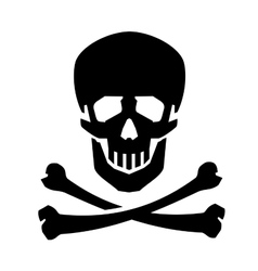 Jolly Roger logo design template human vector