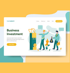 landing page template business investment vector image