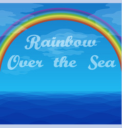 landscape rainbow and sea vector image