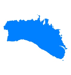 Map of Menorca vector image