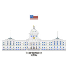 Minnesota state capitol vector