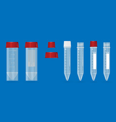 modern realistic 3d test-tubes on a blue vector image