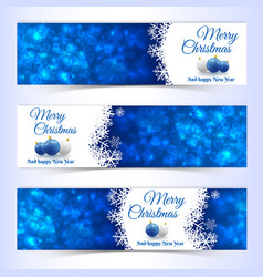 new year christmas banners set vector image
