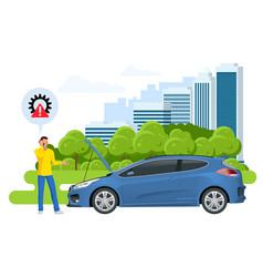 online roadside assistance automobile repair vector image