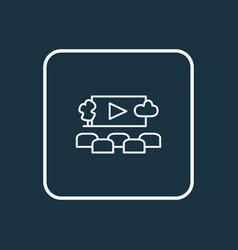 open air cinema icon line symbol premium quality vector image