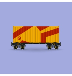 Platform with Orange Container Isolated vector