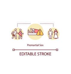 Premarital sex concept icon vector