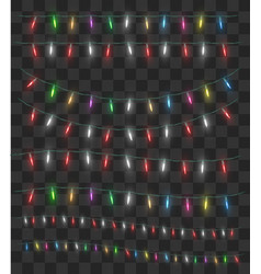 real colorful christmas light decorative vector image