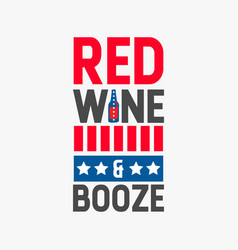 red wine and booze vector image