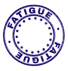 Scratched textured fatigue round stamp seal vector