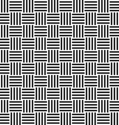 Seamless black white stripe pattern vector