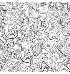 seamless curve pattern Black and white background vector image