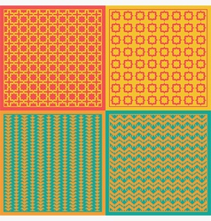 Seamless patterns Net vector image