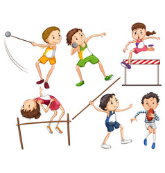 Sets of people doing sports vector