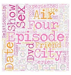 Sex And The City DVD Review text background vector