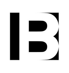 simple elegant logo letter b premium vector image