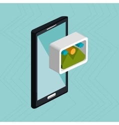 smartphone service isolated icon design vector image