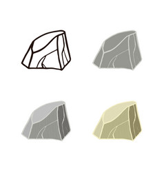 Stone set mountain vector
