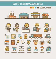 Supply chain infographic elements vector