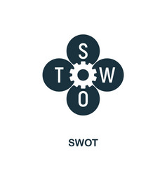 swot icon creative element design from fintech vector image