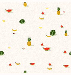 tropical summer fruit background pattern vector image