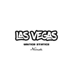 United states las vegas nevada city graffitti vector