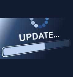 update status sign vector image