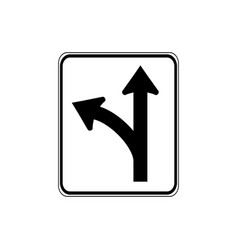 usa traffic road signs this lane offers the vector image