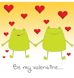 valentine frogs vector image