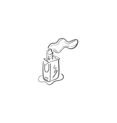 vape doodle icon vector image