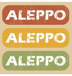 Vintage Aleppo stamp set vector