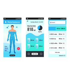 Water balance mobile set vector