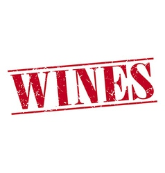 wines red grunge vintage stamp isolated on white vector image
