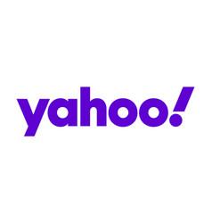 yahoo logo sign isolated vector image