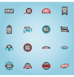 Black Friday sale icons set cartoon style vector image vector image