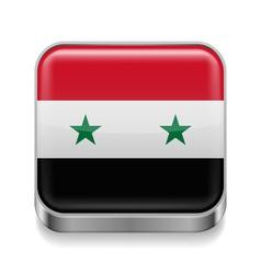 Metal icon of Syria vector image vector image