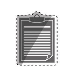 Paper note element vector image