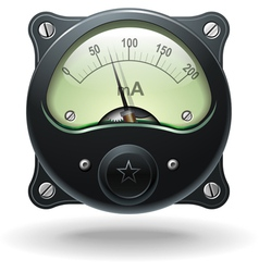 Realistic analog signal meter vector image vector image