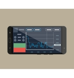 Smart-phone with trading application vector image