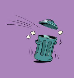 Street trash ecology and waste management vector