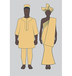 African Couple vector image vector image