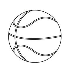 basketball ball play thin line vector image vector image