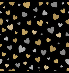 beautiful seamless pattern with gold and silver vector image