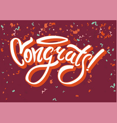 congratulations on funny holiday graphic text vector image